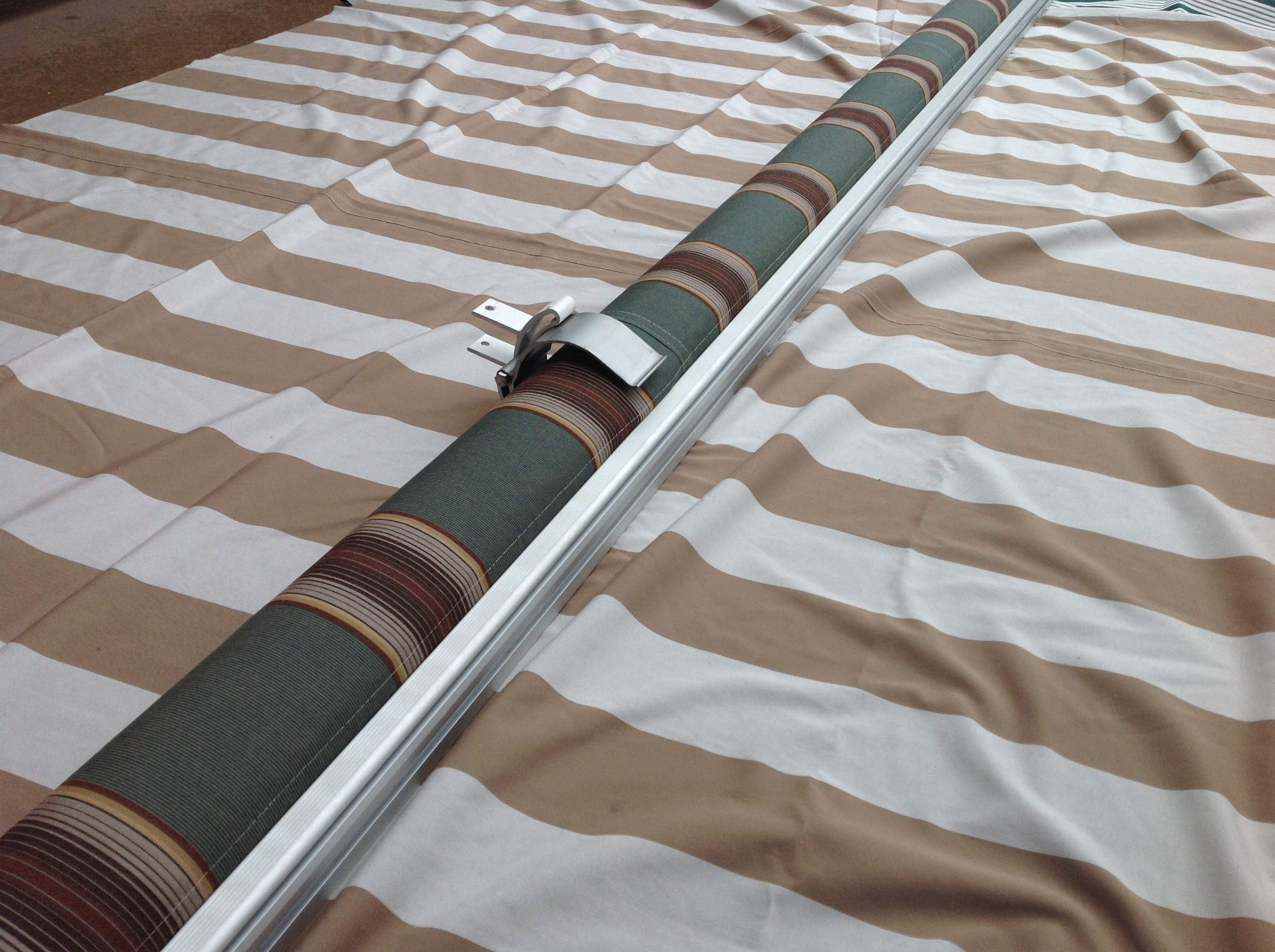 fabric retractable aleko picture ft replacement multistripe p for green of awning s